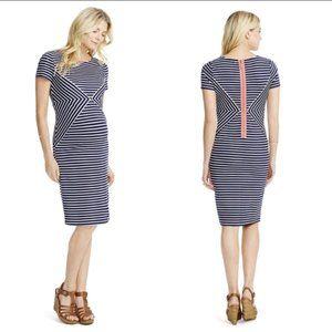 Jessica Simpson striped bodycon maternity dress-S